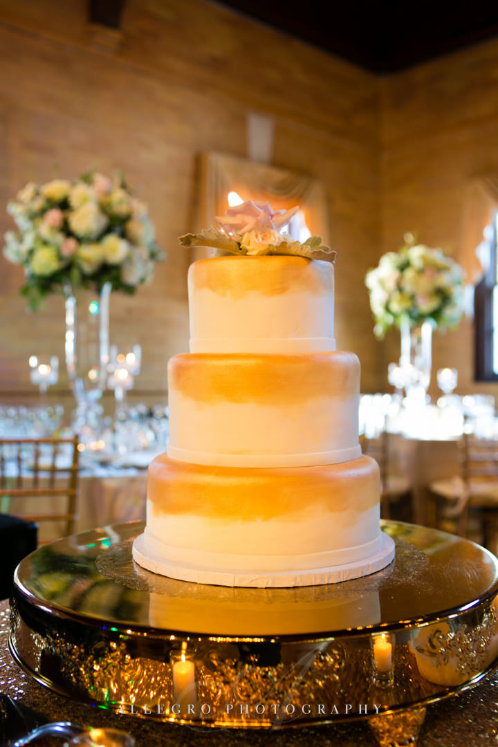 great gatsby wedding cake linden place - photographed by allegro photography