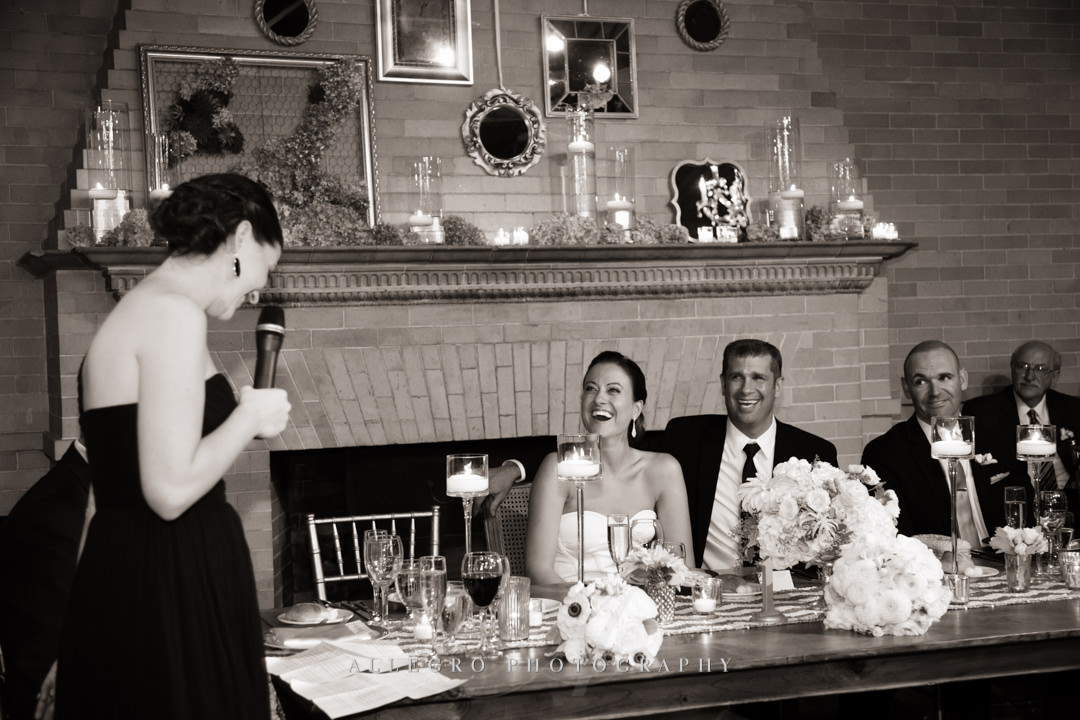 wedding toasts linden place - photographed by allegro photography