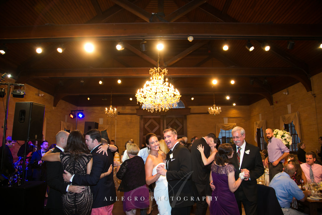 wedding reception linden place - photographed by allegro photography
