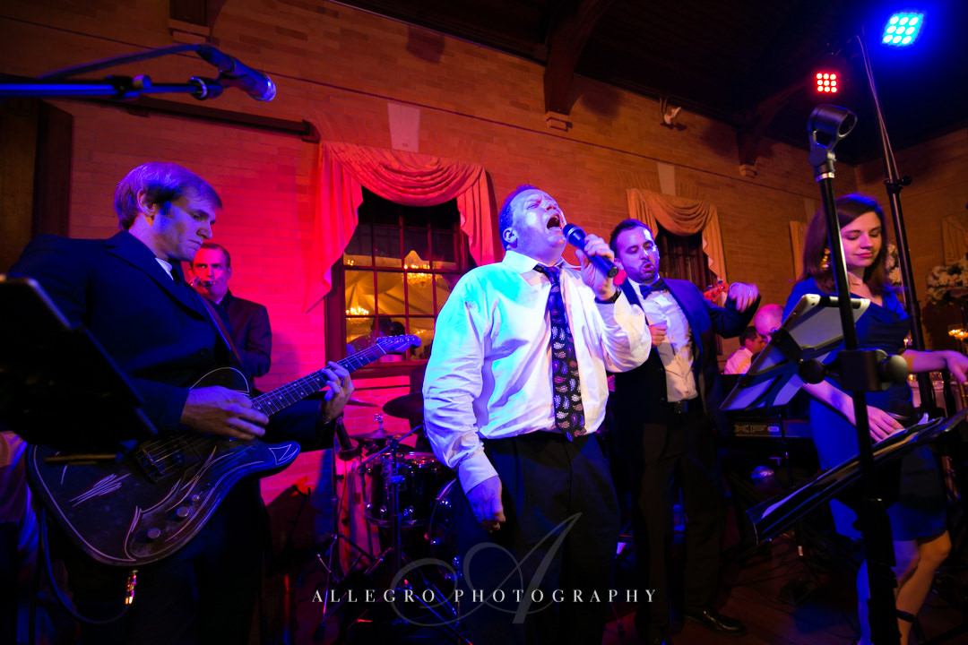 wedding reception band linden place - photographed by allegro photography