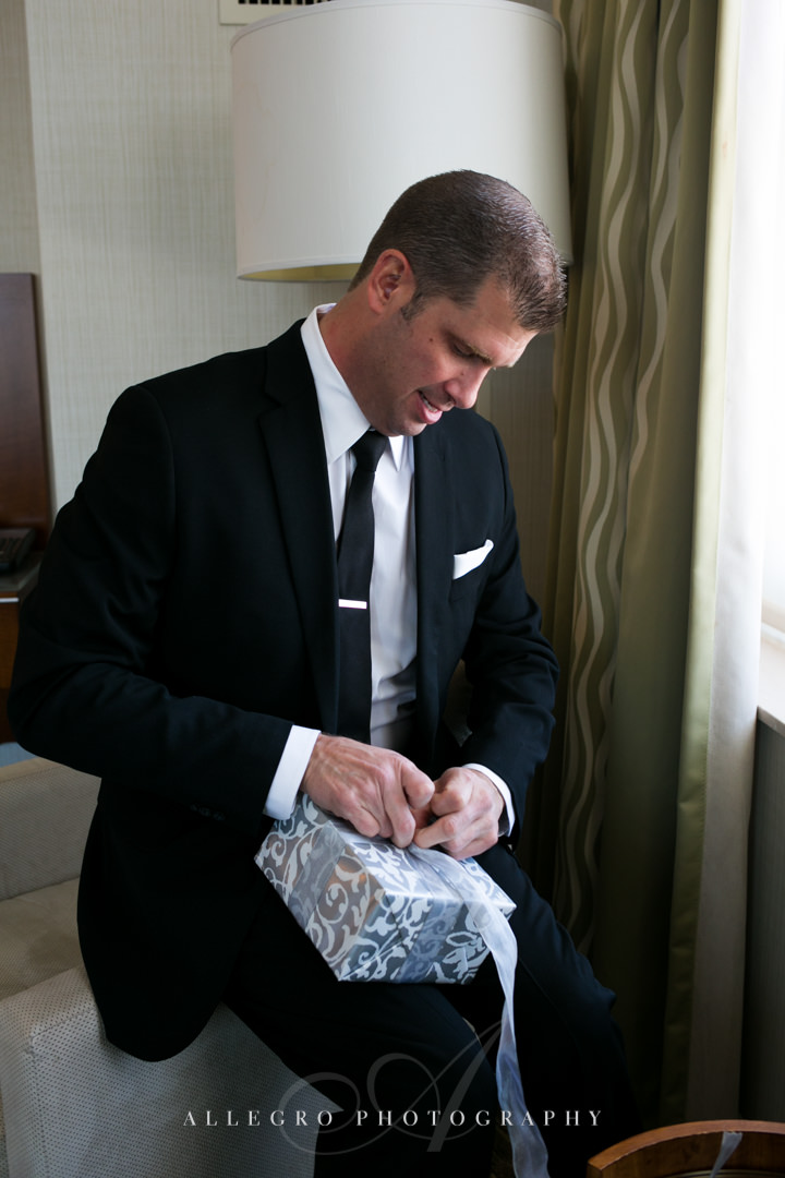 groom's present boston - photographed by allegro photography