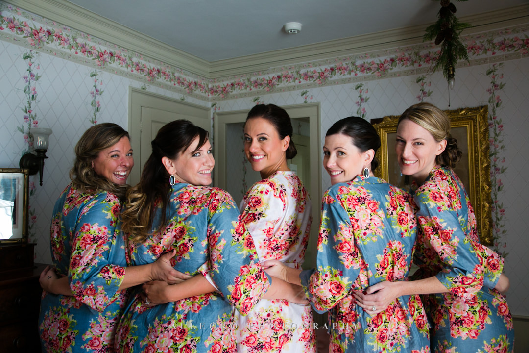 bride and bridesmaids boston - photographed by allegro photography