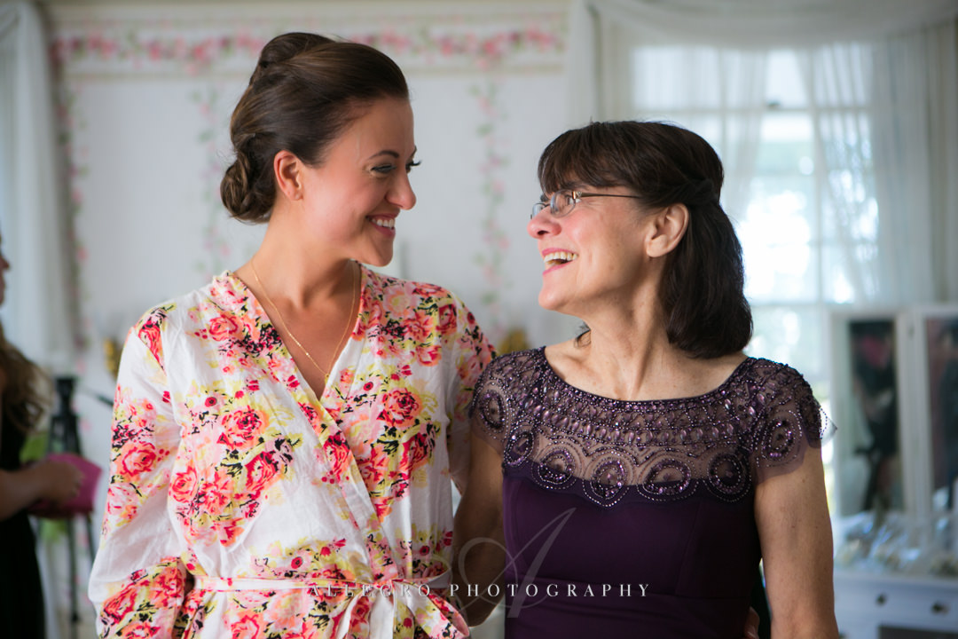 bride and mother of the bride boston - photographed by allegro photography