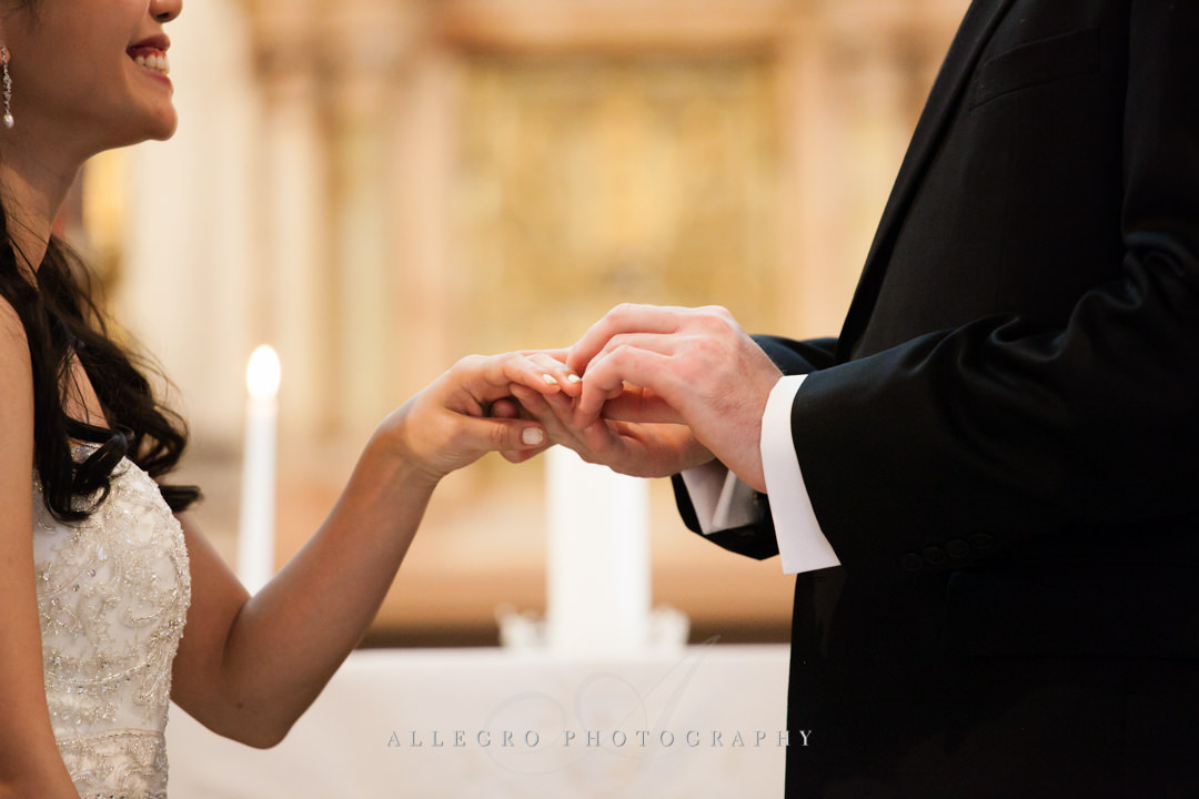 interracial wedding ceremony - photographed by allegro photography