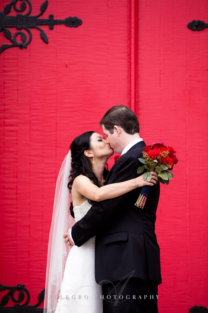 stunning wedding portrait boston - photographed by allegro photography