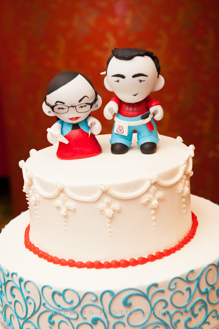 anime wedding cake boston - photographed by allegro photography