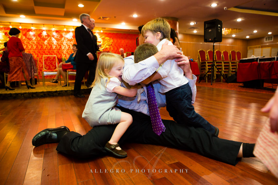 wedding reception with kids boston - photographed by allegro photography