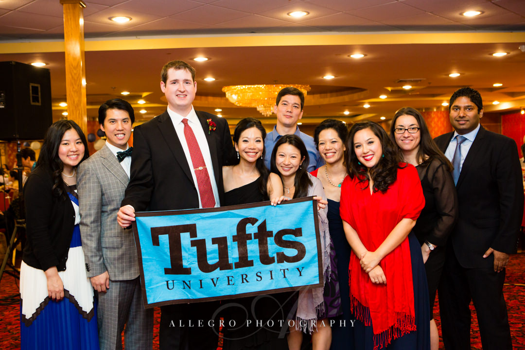 tufts alumni at wedding - photographed by allegro photography