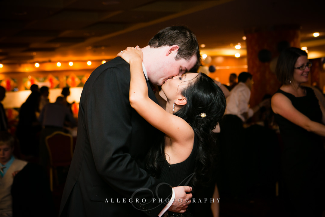 bride and groom at wedding boston - photographed by allegro photography