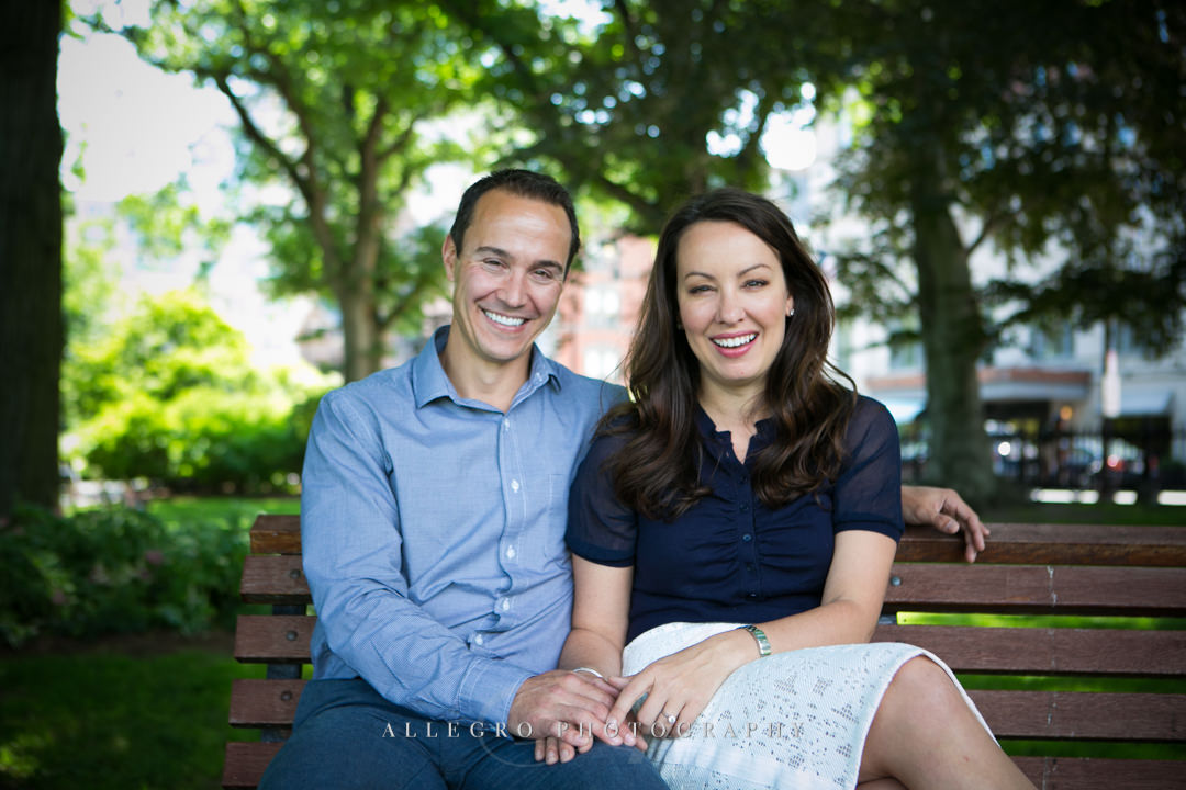 boston public gardens engagement - Photographed by Allegro Photography
