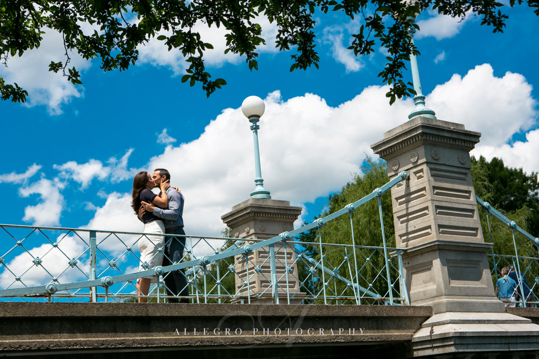 boston public gardens engagement photo - photographed by allegro photography