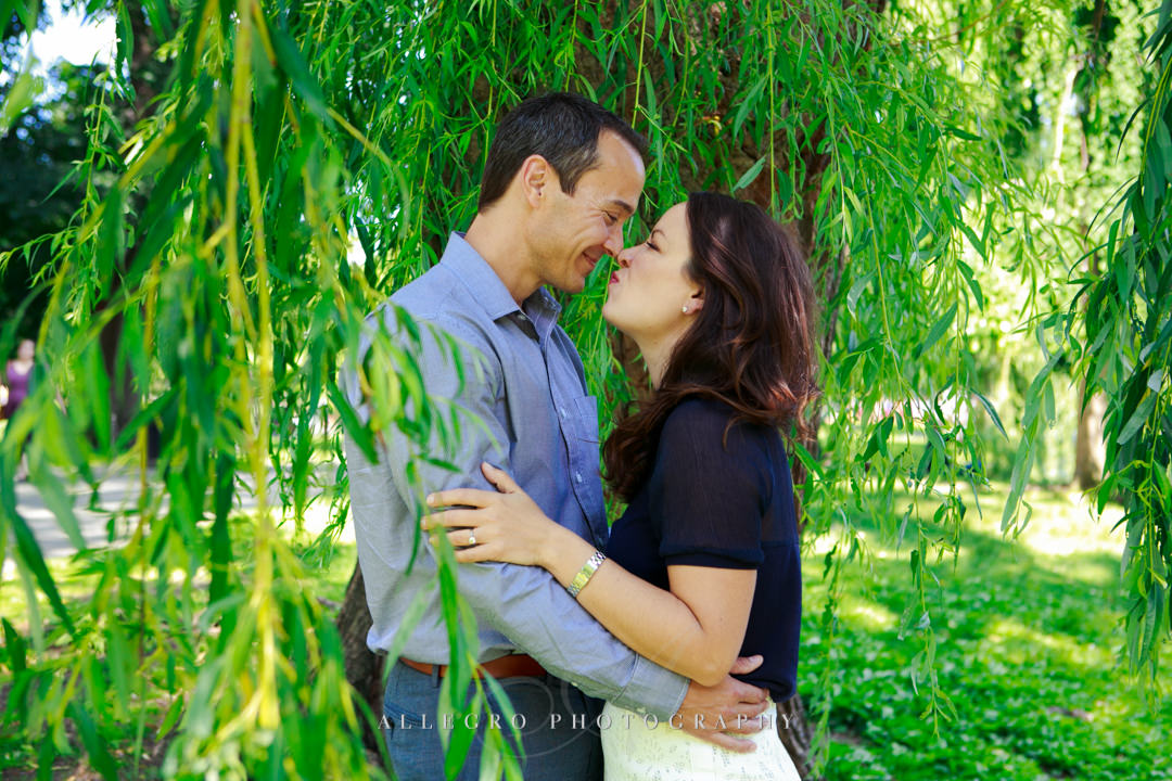 outdoor engagement photos boston - Photographed by Allegro Photography