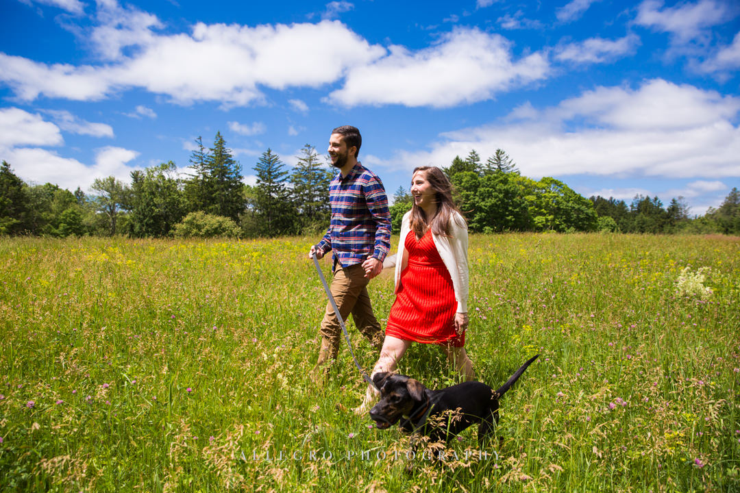 maudslay state park engagement photo- Photographed by Allegro Photography
