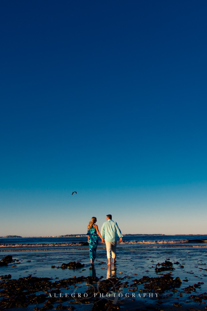 boston beach engagement photos - Photographed by Allegro Photography
