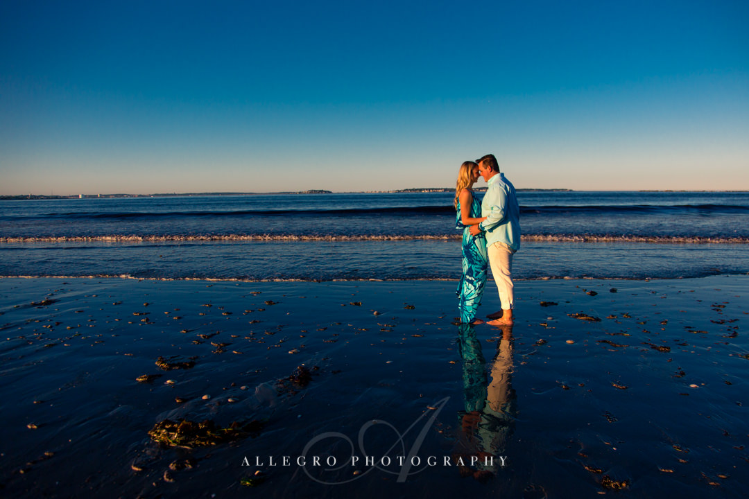 gorgeous beach engagement session MA - Photographed by Allegro Photography