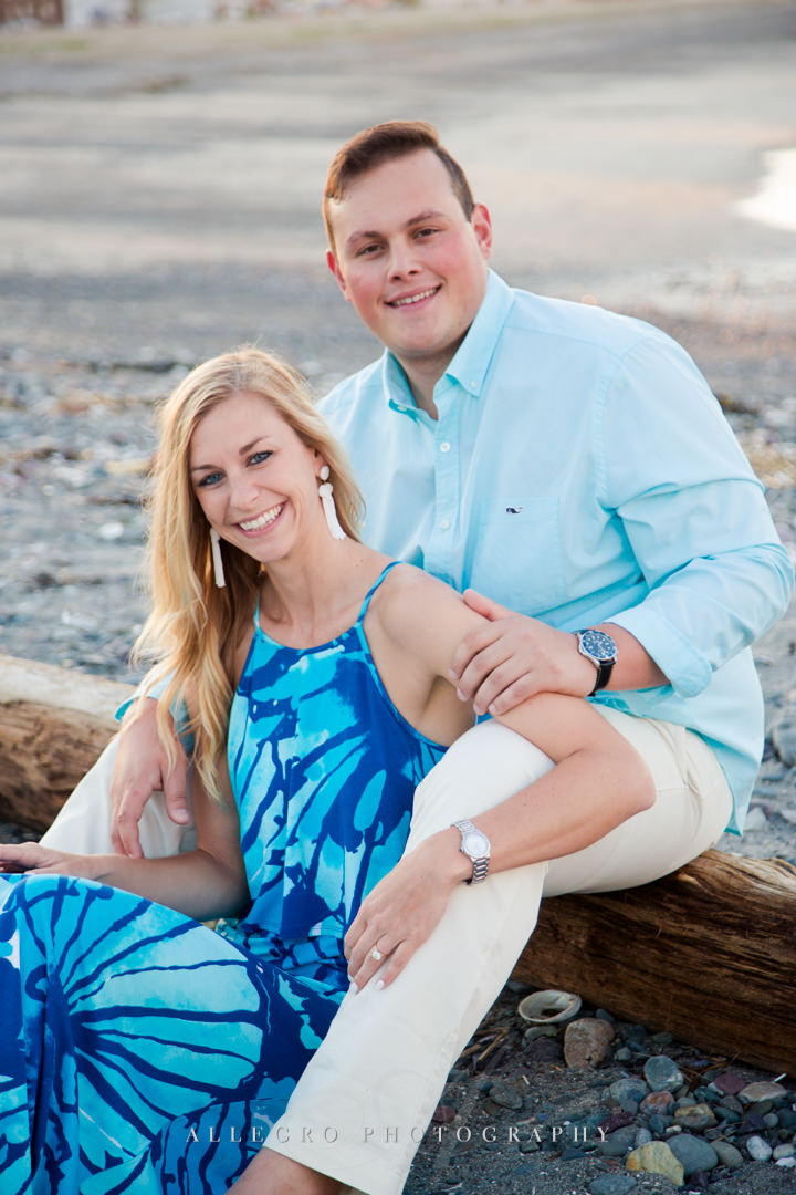beach engagement portrait - Photographed by Allegro Photography