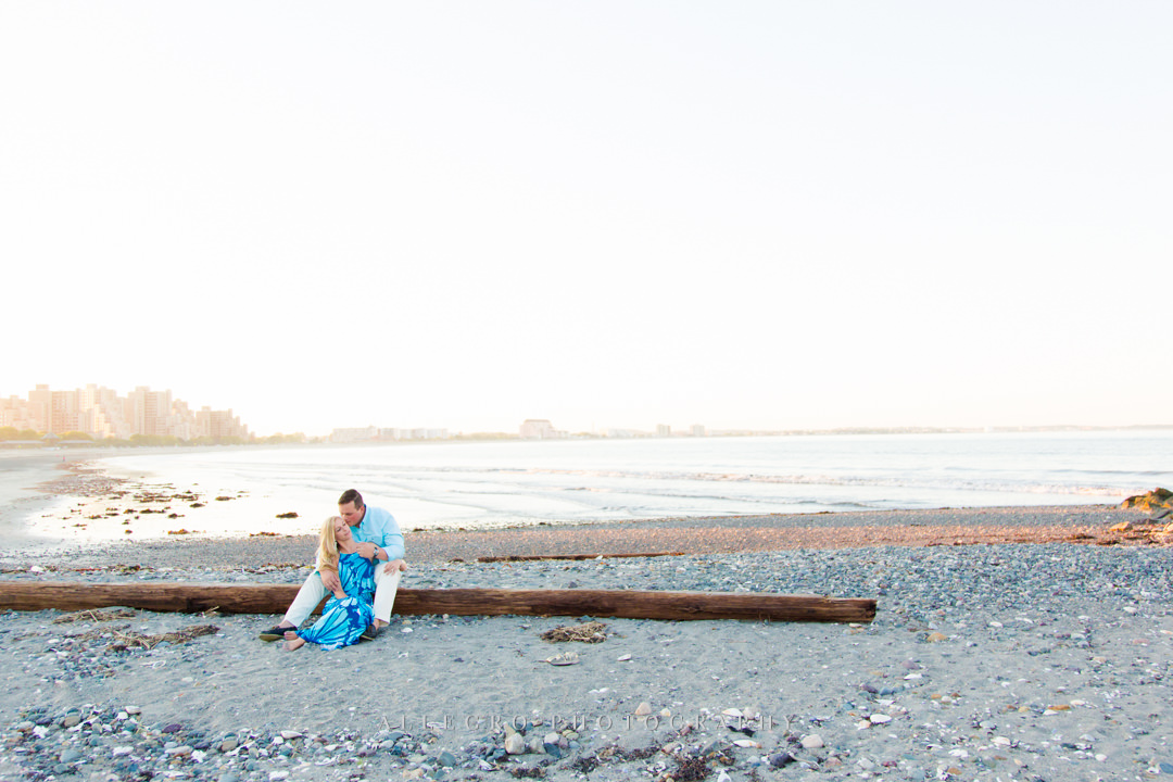 revere beach engagement photos - Photographed by Allegro Photography