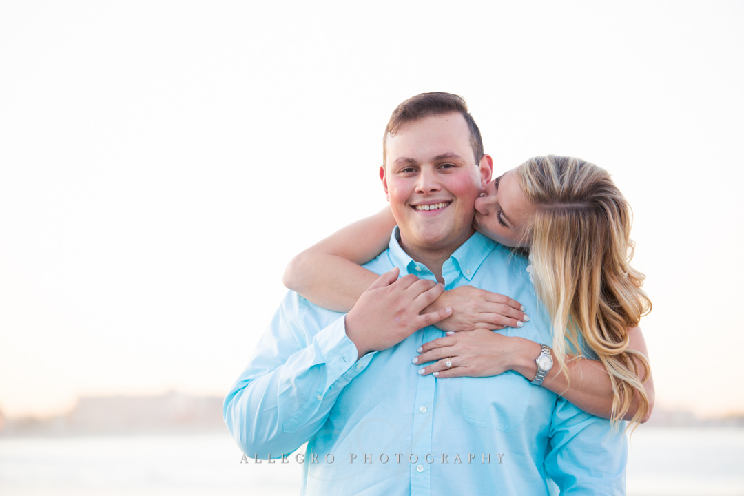 teal engagement session colors - Photographed by Allegro Photography