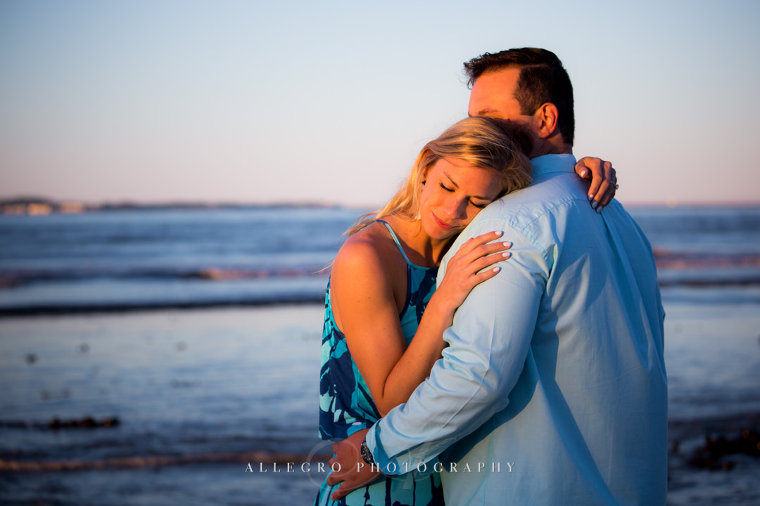 Boston Couple's beach engagement session - Photographed by Allegro Photography