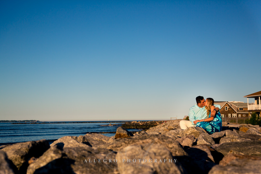 revere beach engagement - Photographed by Allegro Photography