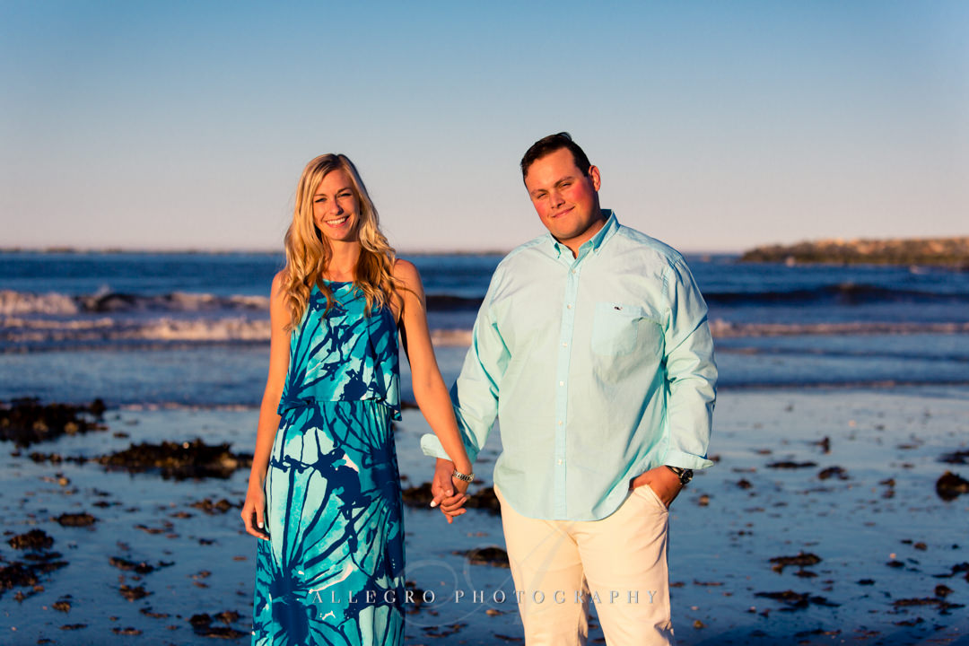 lily pulitzer for engagement session - Photographed by Allegro Photography