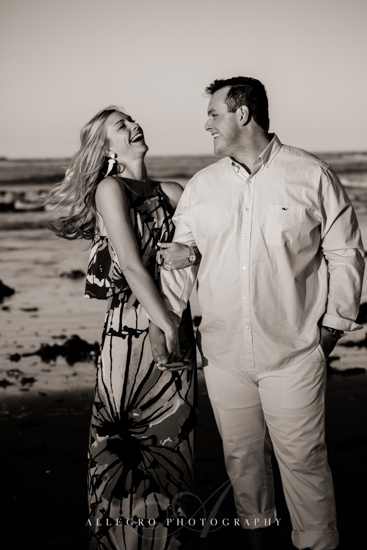 dramatic beach engagement session - Photographed by Allegro Photography