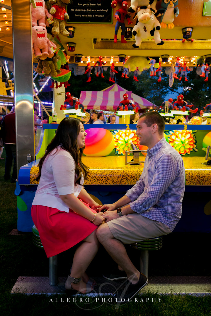 carnival engagement photo MA - photographed by allegro photography