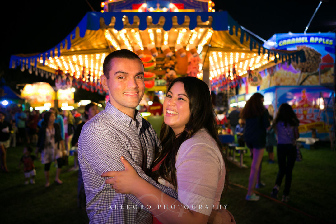 boston carnival engagement photo - photographed by allegro photography