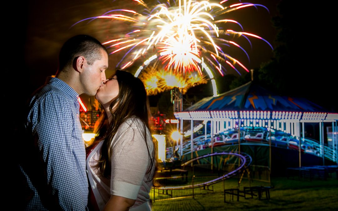 Lexington Carnival Engagement Session- R+C