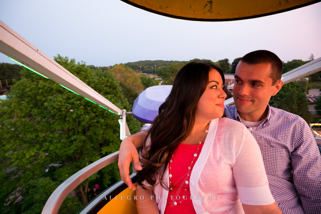 ferris wheel engagement photo - photographed by allegro photography