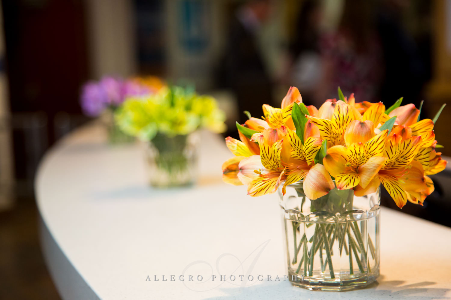 Floral photo by Allegro Photography at the nonprofit JCC@333