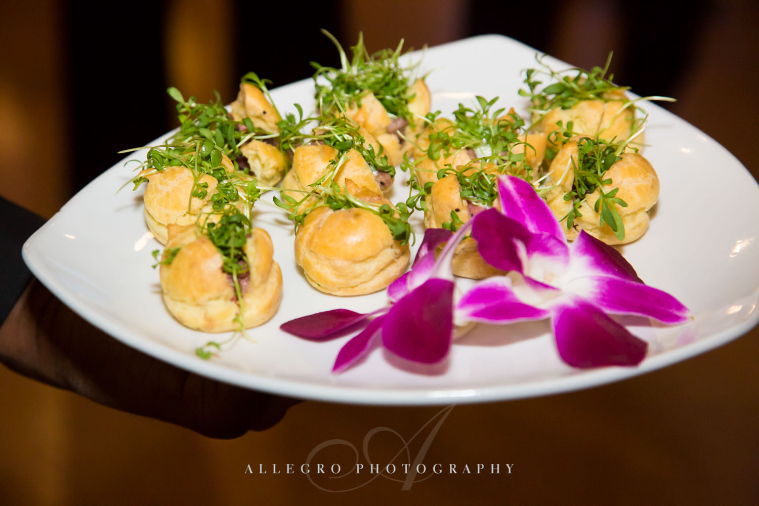 Horderves served at JCC@333 shot by Allegro Photography