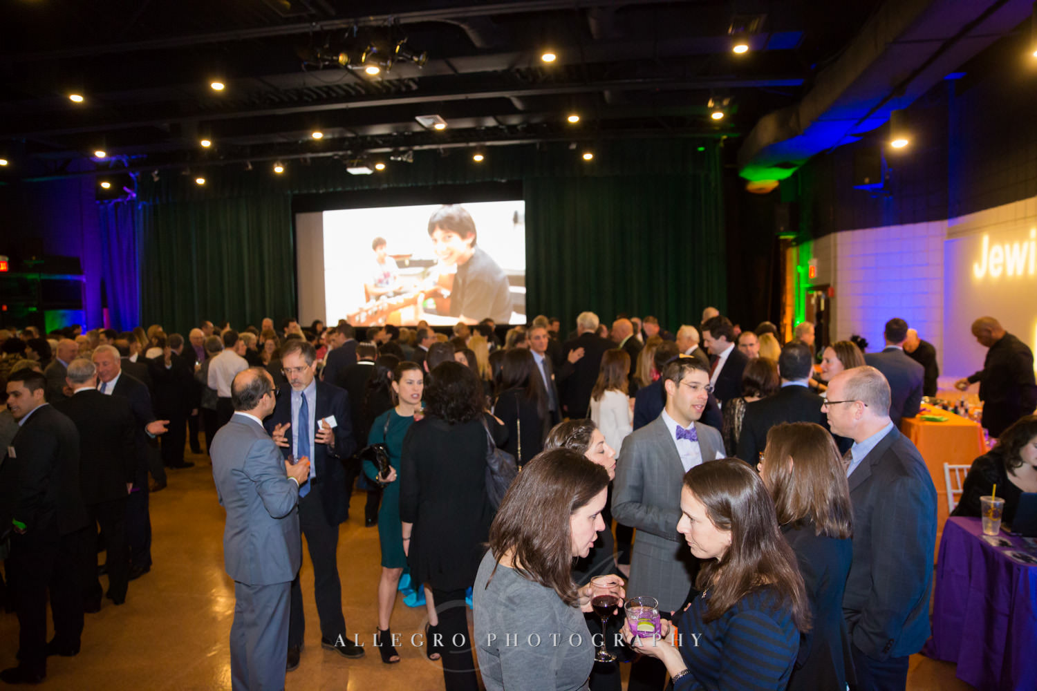 Guests mingling at nonprofit event shot by Allegro Photography