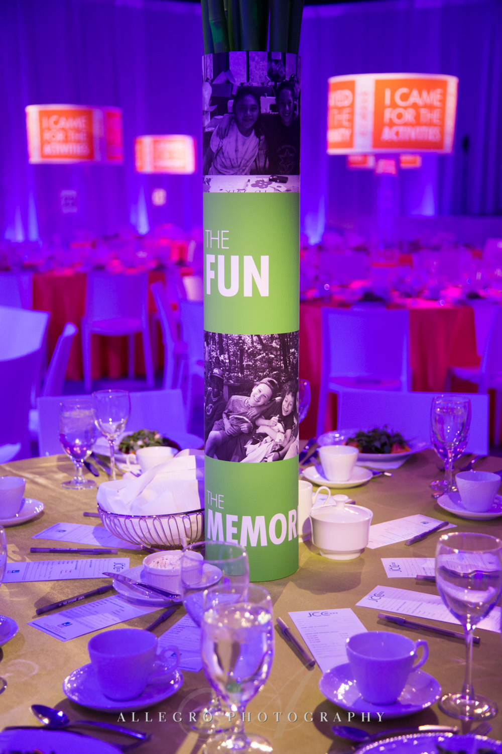 Nonprofit event photography decor shot by Allegro Photography