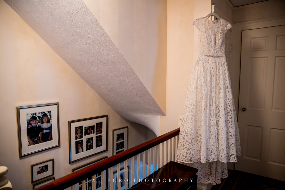allegro photography: vows wedding gown with lace for summer ceremony at elm bank