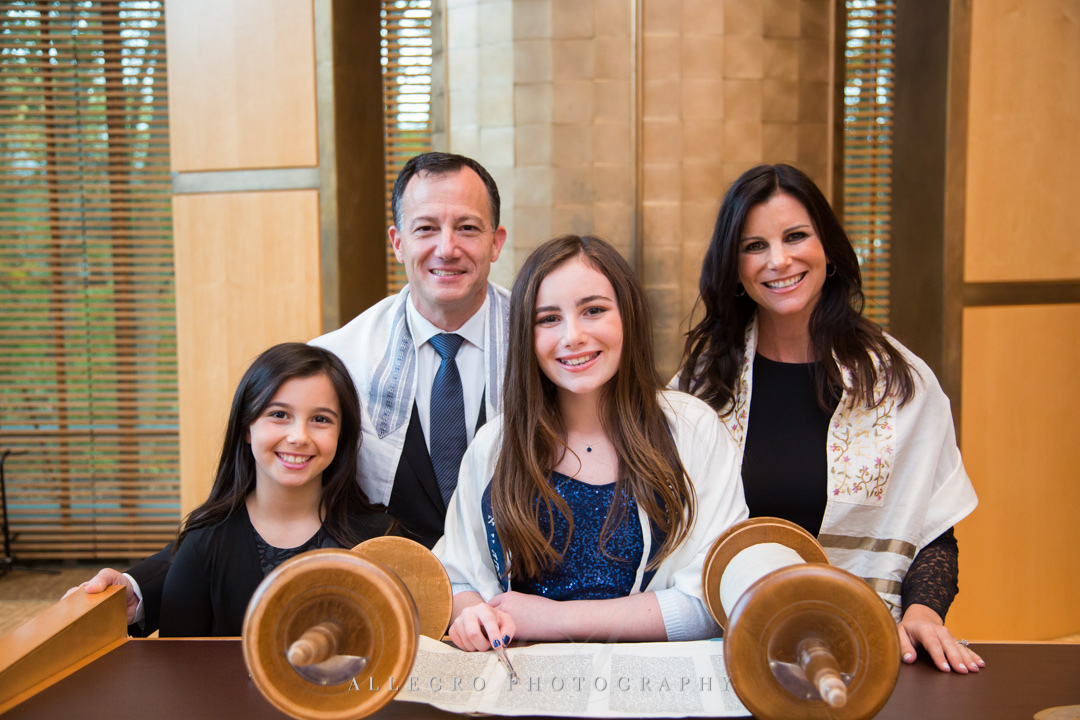 Allegro Photography bat mitzvah bimah portrait tbe wellesley