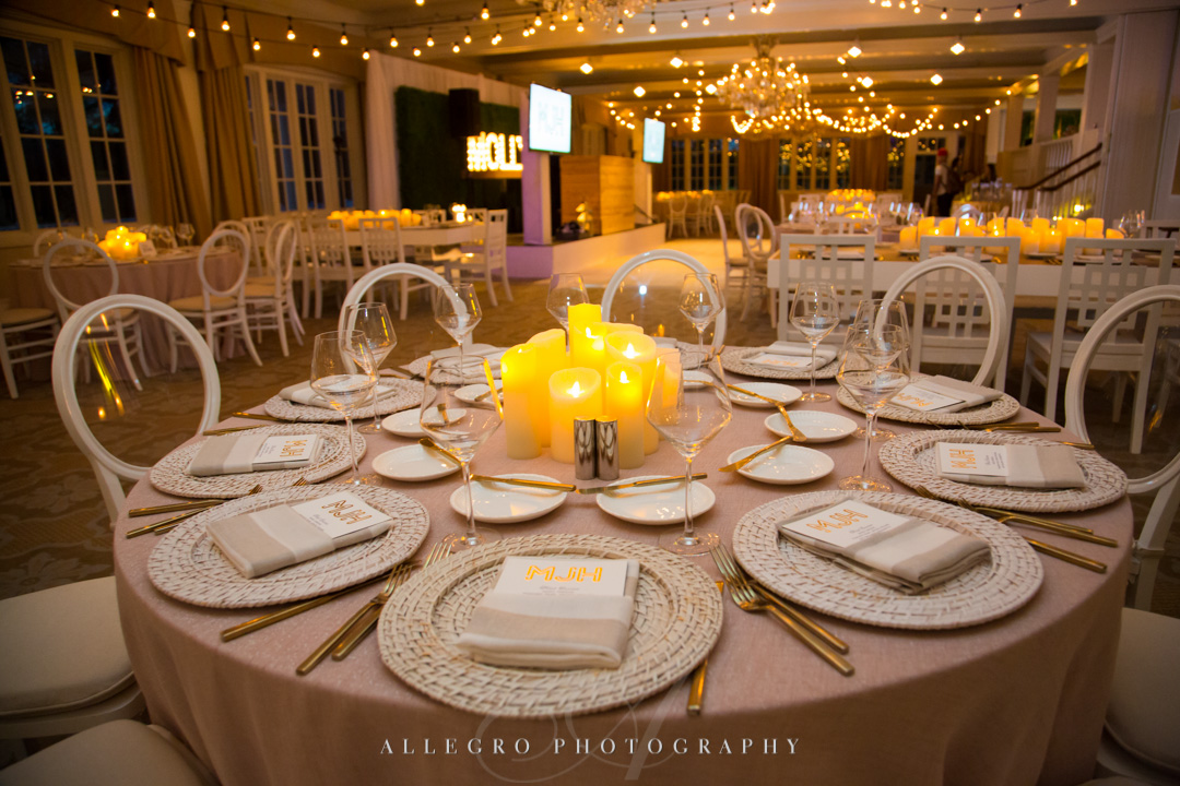 Allegro Photography bat mitzvah reception at pinebrook golf club