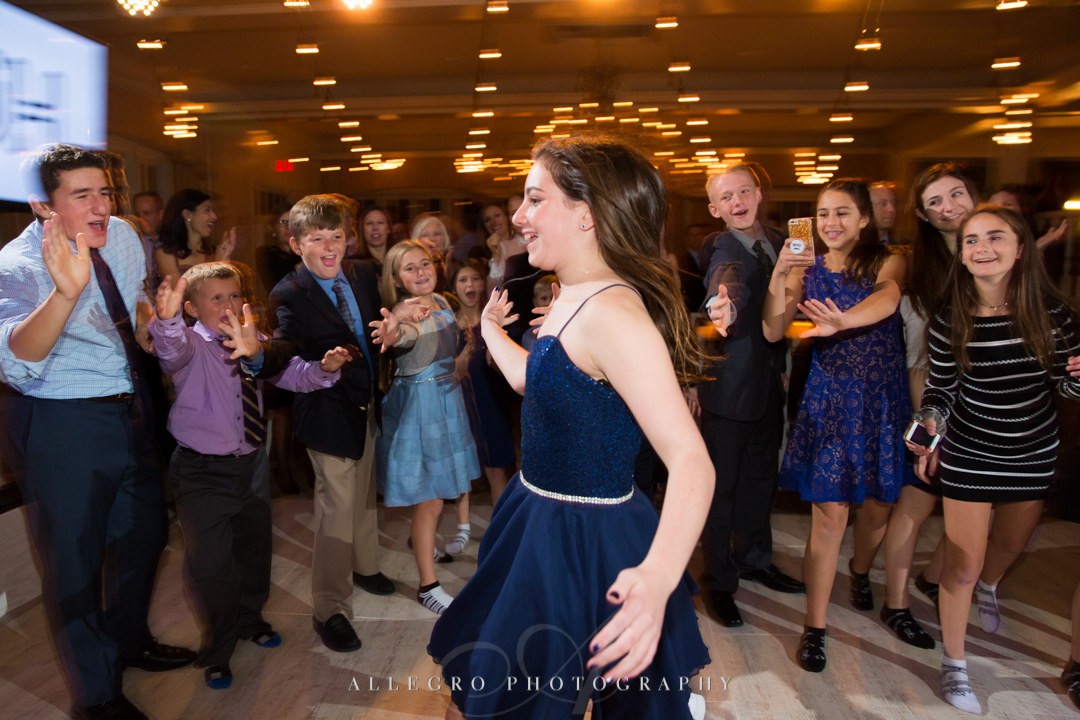 Allegro Photography bat mitzvah with the gang at pine brook cc