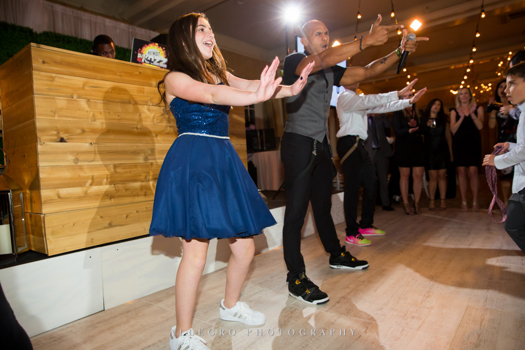 Allegro Photography bat mitzvah dancing with Kupah James