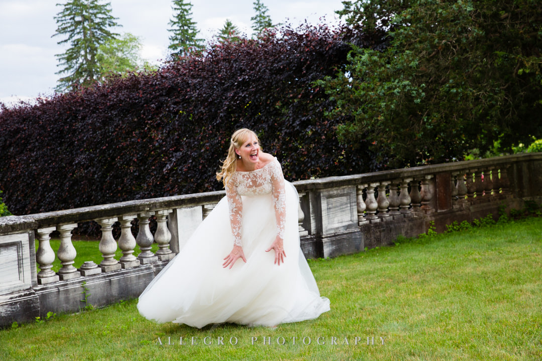 Beautiful bride laughing outside | Allegro Photography