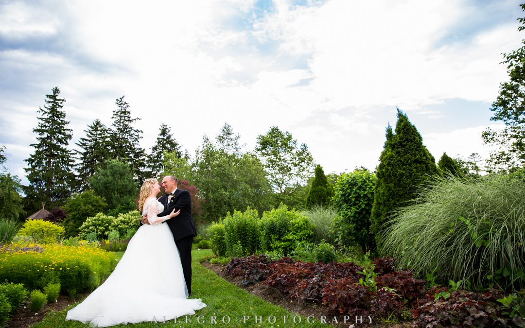 Wedding couple in love at Elm Bank Gardens | Allegro Photography