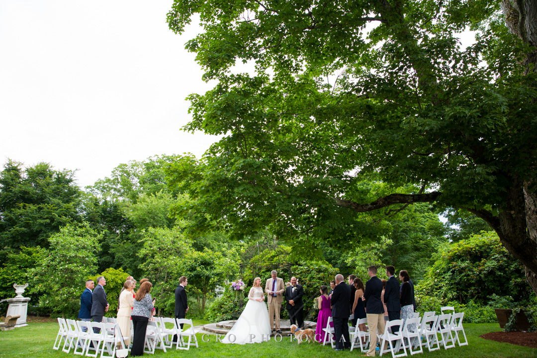 Intimate wedding at Gardens at Elm Bank | Allegro Photography