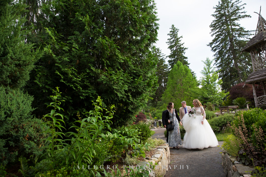Bride and sons at outdoor gardens wedding | Allegro Photography