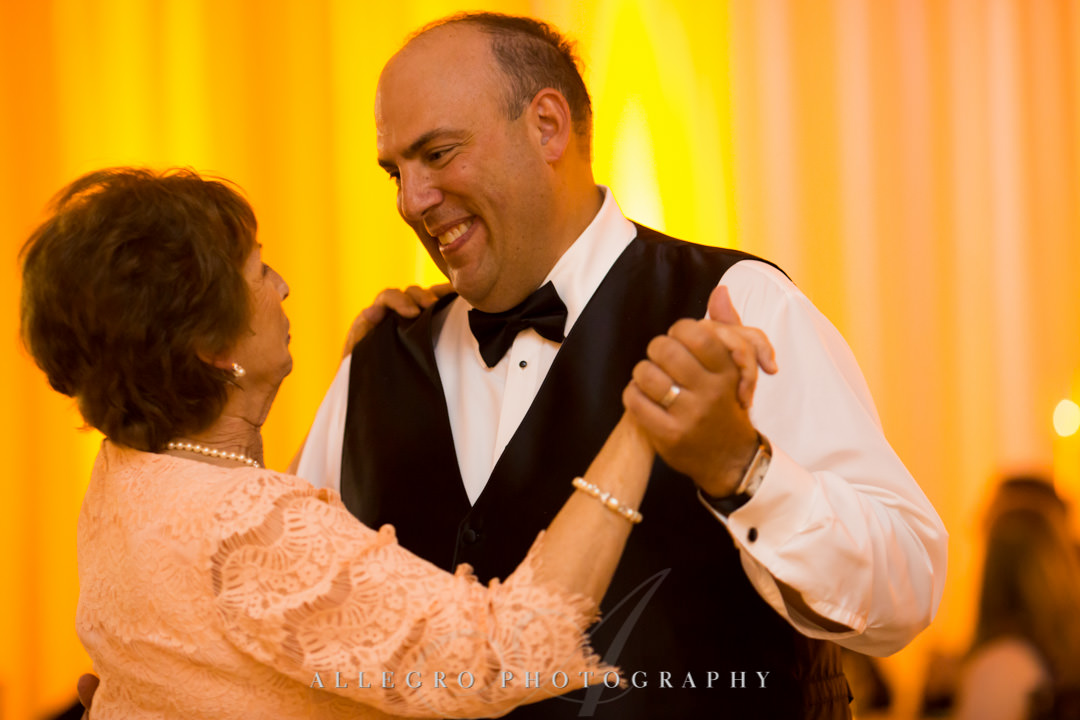Groom dances with his mother | Allegro Photography