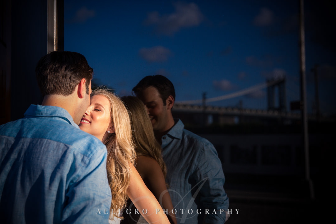 Engaged NYC couple in Brooklyn | Allegro Photography