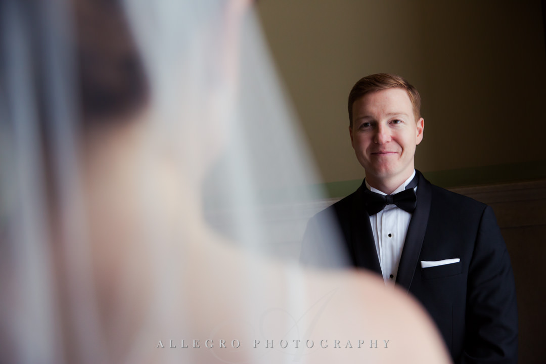 Groom sees his bride before the wedding