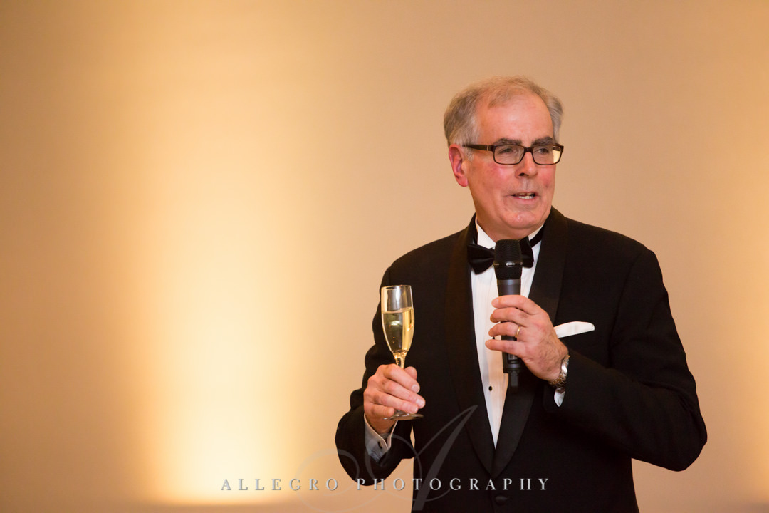 Father of the bride gives wedding toast