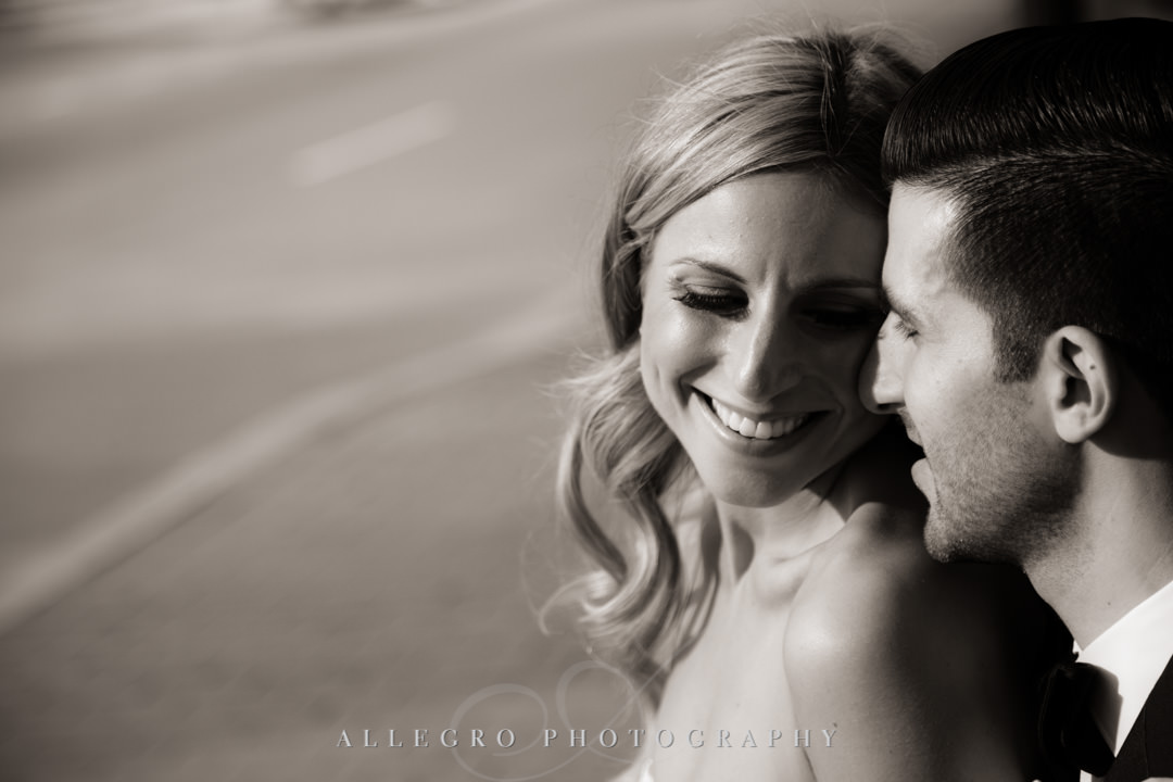 Boston wedding couple smiling