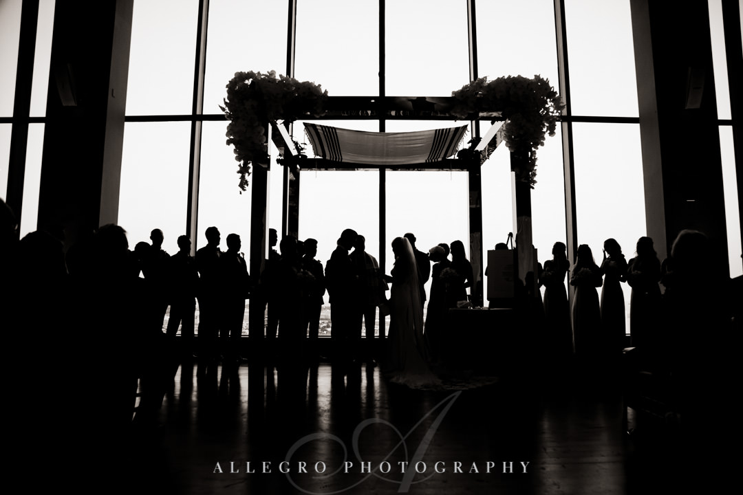 Wedding party silhouette image