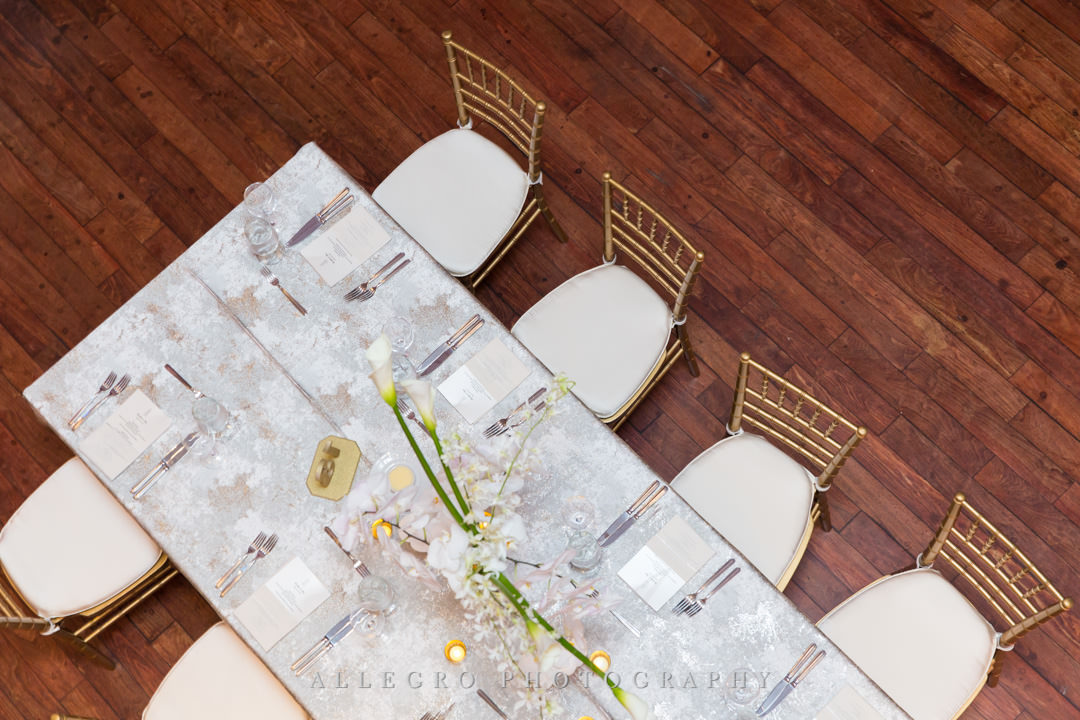 White wedding dining table